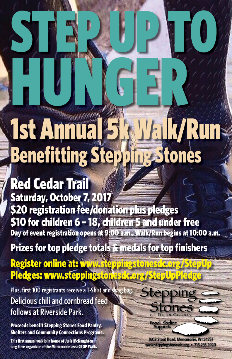Stepping Stones – Food. Shelter. Support